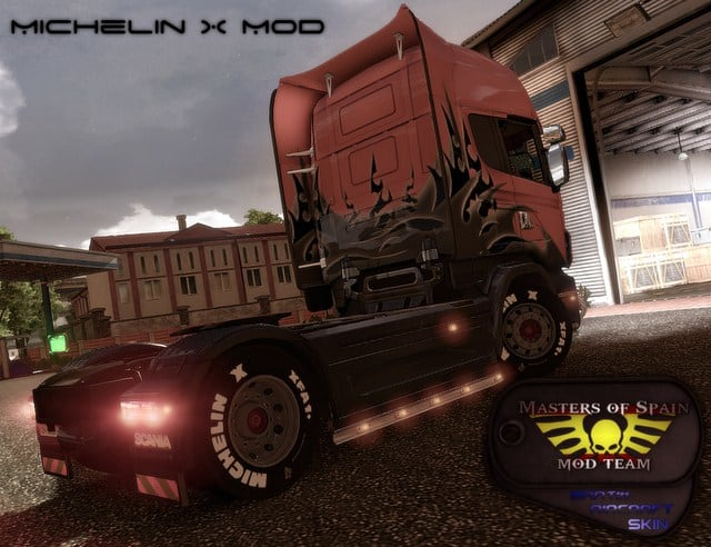 Euro Truck Simulator 2: Michelin wheels mod