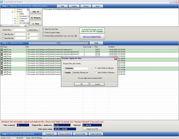 Portable Easy Duplicate Finder