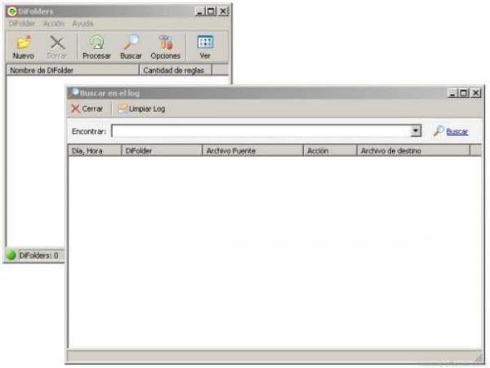 Traductor al español para DiFolders