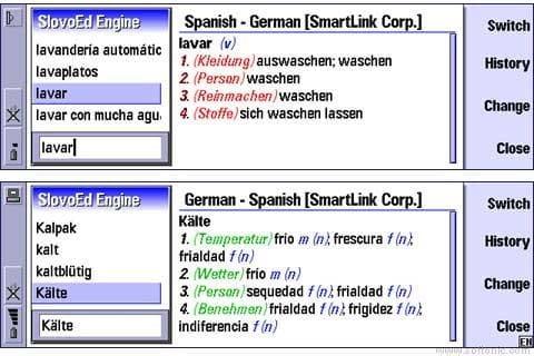 SlovoEd Nokia Communicator: Alemán-Español