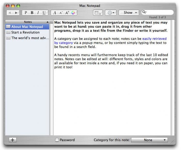Mac Notepad