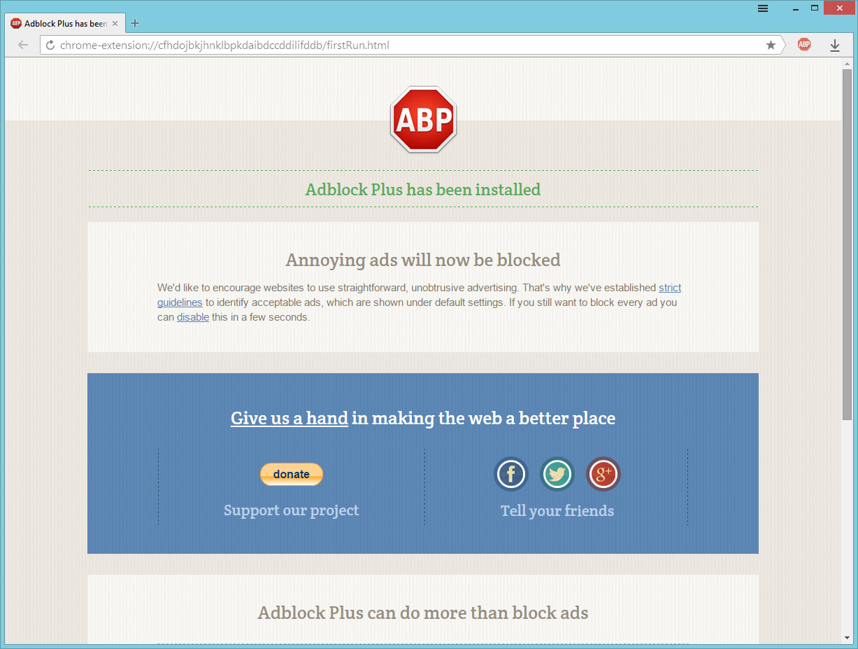 Adblock Plus for Yandex Browser