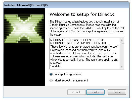 DirectX End-User Runtime Web Installer