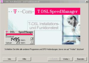 T-DSL Speed Manager