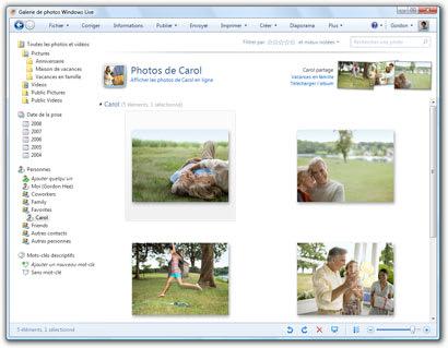 Windows Live Galerie de photos 2012