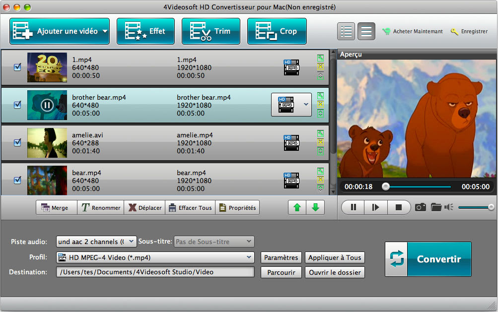 4Videosoft HD Convertisseur pour Mac