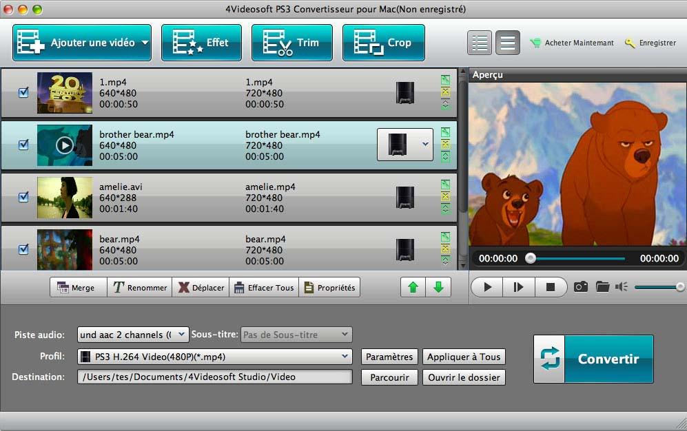 4Videosoft PS3 Convertisseur pour Mac