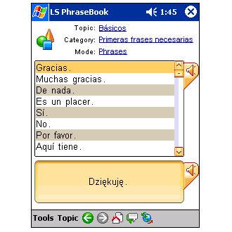 LingvoSoft Talking PhraseBook 2006 Spanish-Polish
