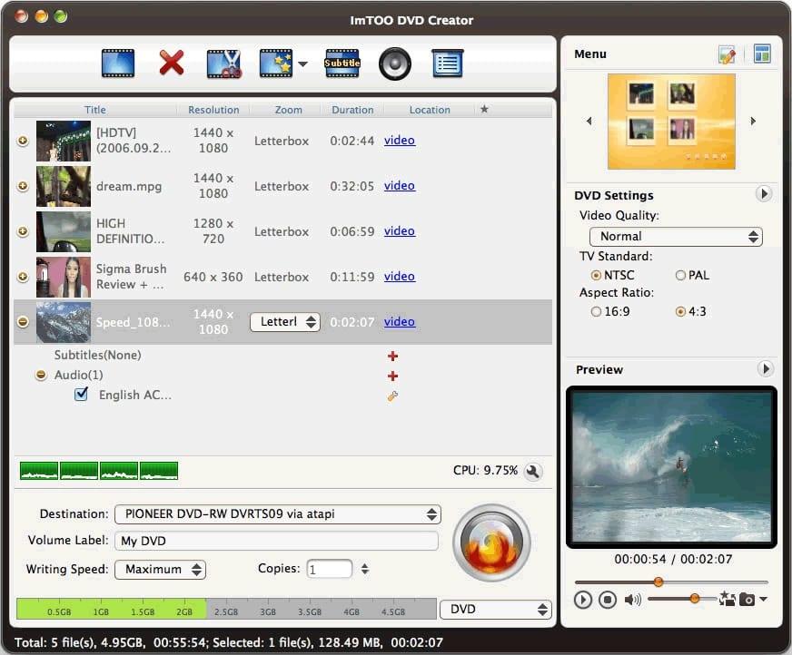 ImTOO DVD Creator for Mac