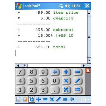calcPad - Business Calculator