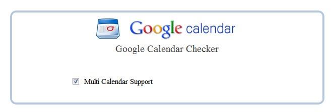 Google Calendar Checker