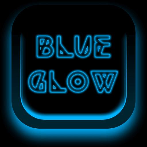 Blue Glow Keyboard