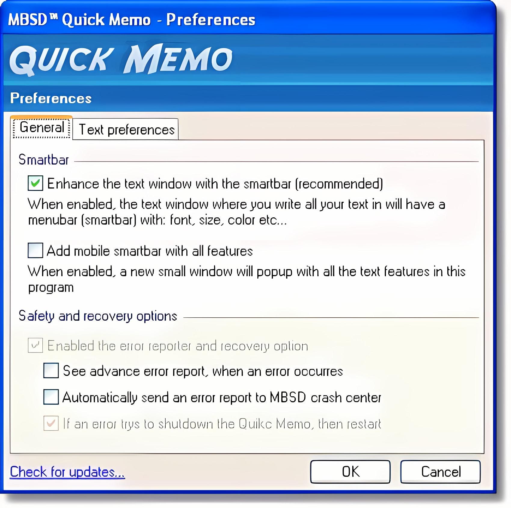 MBSD Quick Memo