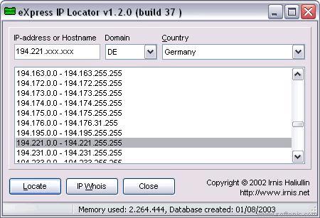eXpress IP Locator