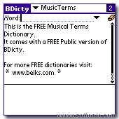 Musical Terms Dictionary