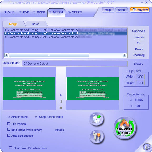 Cucusoft MPEG MOV RMVB DIVX AVI to DVD VCD SVCD Pro