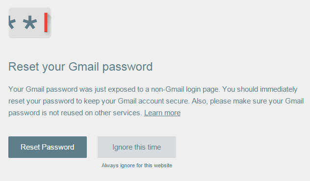 Google Password Alert