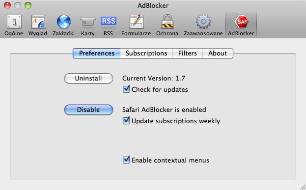 Safari AdBlocker na Mac - Download