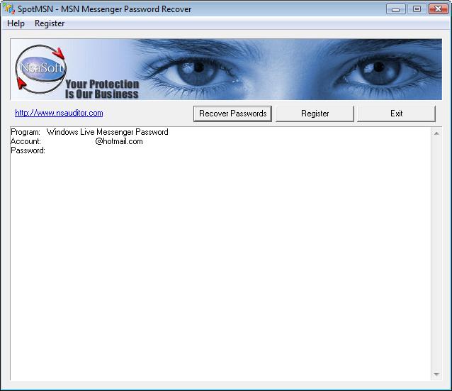 SpotMSN Password Recover