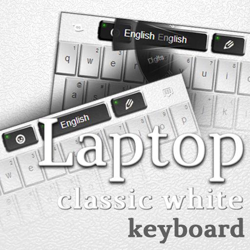 Laptop Keyboard Classic White