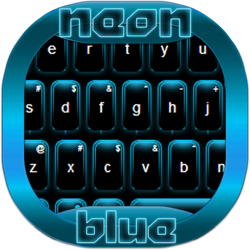 Neon Keypad Blue