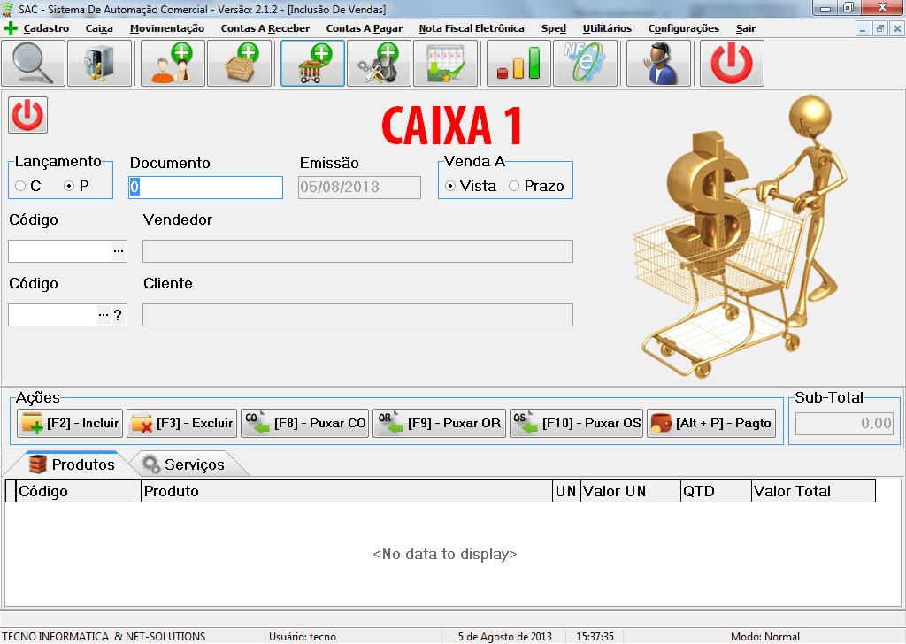 SAC - Sistema de Automação Comercial