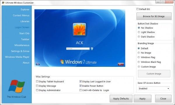 Ultimate Windows Customizer