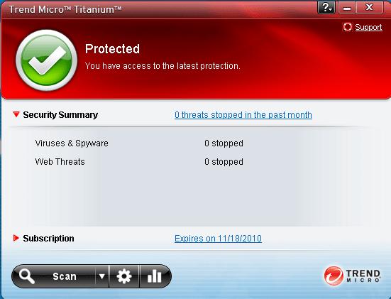 Trend Micro Titanium Security voor Netbooks