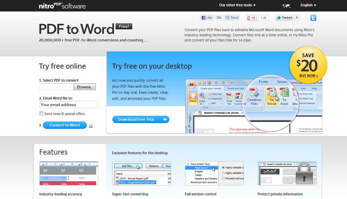 nitro pdf wont pdf a word doc