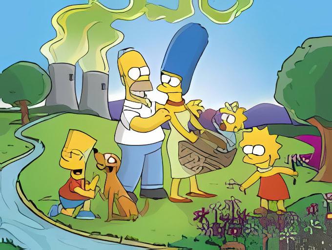 Wallpaper Familie Simpson