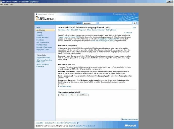 MDI Viewer (MDI2PDF)