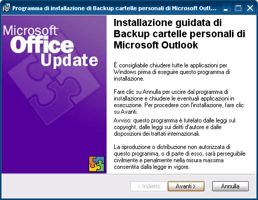 Backup cartelle personali