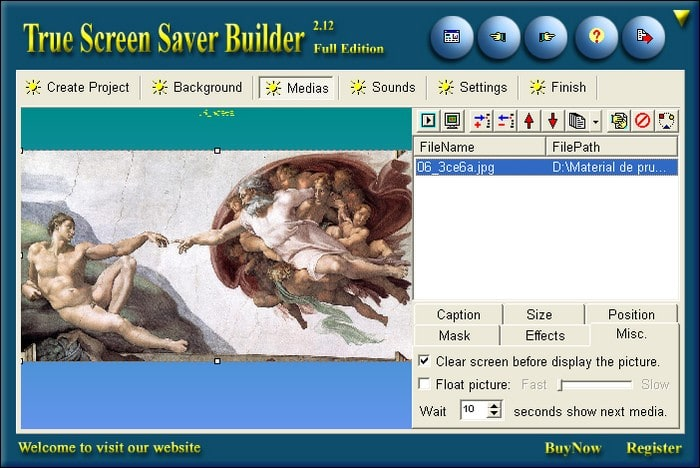 The Screen Saver Builder