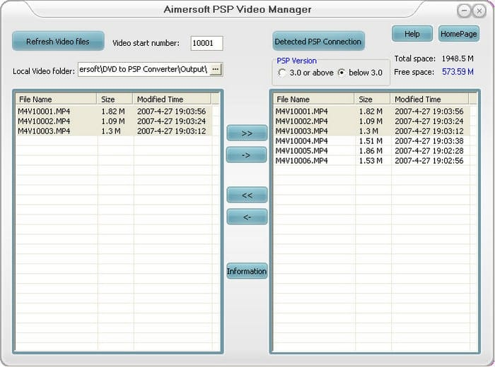 Aimersoft PSP Video Manager