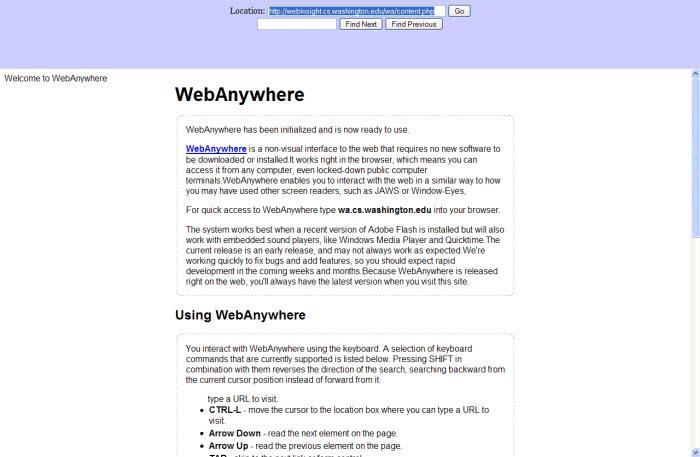WebAnywhere
