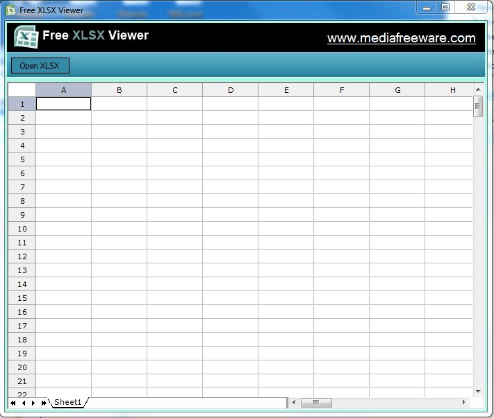Free XLSX Viewer