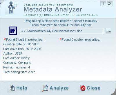 Metadata Analyzer