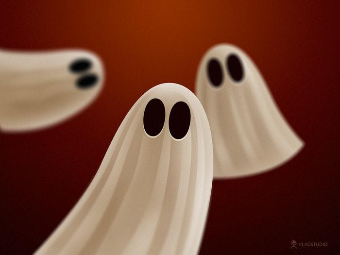 Halloween Ghosts Wallpaper