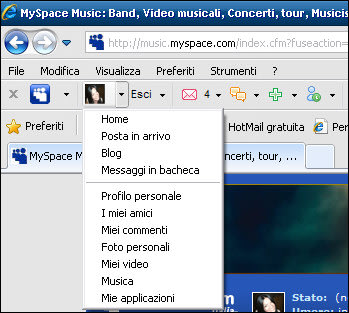 MySpace Toolbar