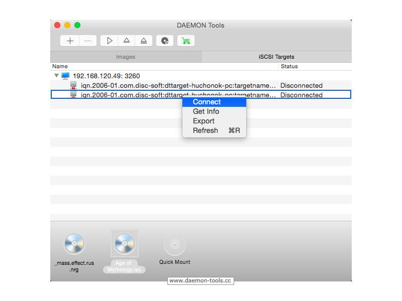 DAEMON Tools dla Mac