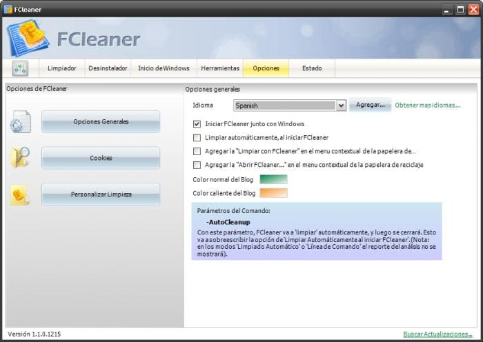 FCleaner Spanish Language Pack