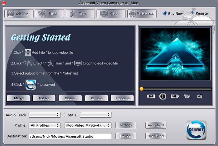 Aiseesoft Convertisseur Vidéo pour Mac