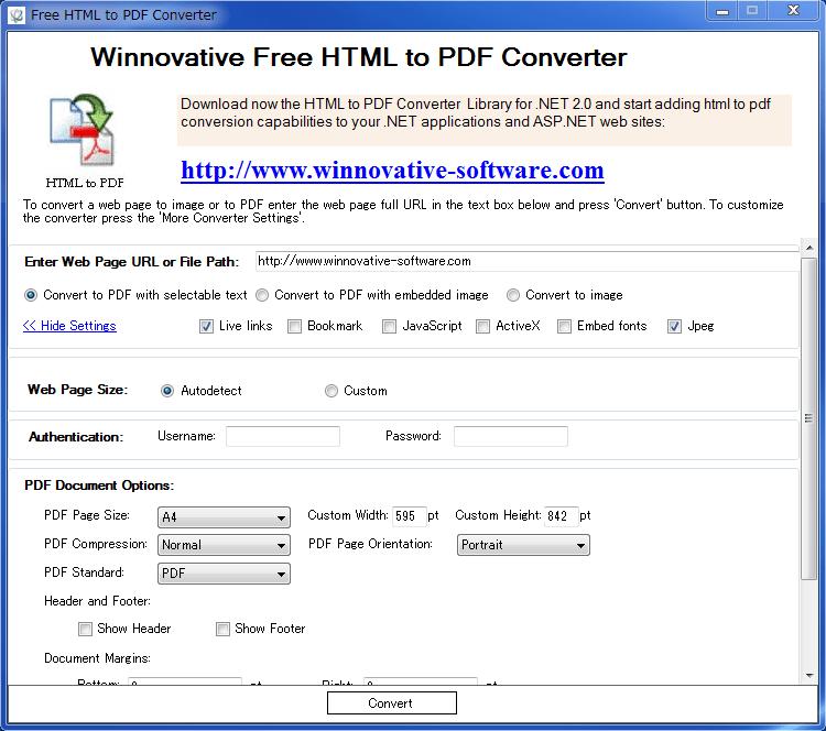 Free HTML to PDF Converter