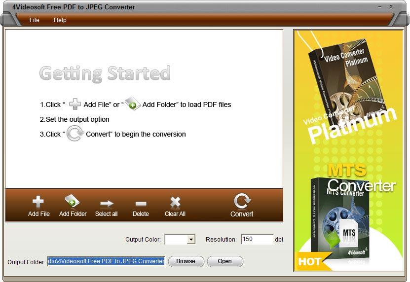 4Videosoft フリー PDF JPEG 変換