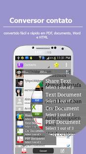 Contactos en el texto