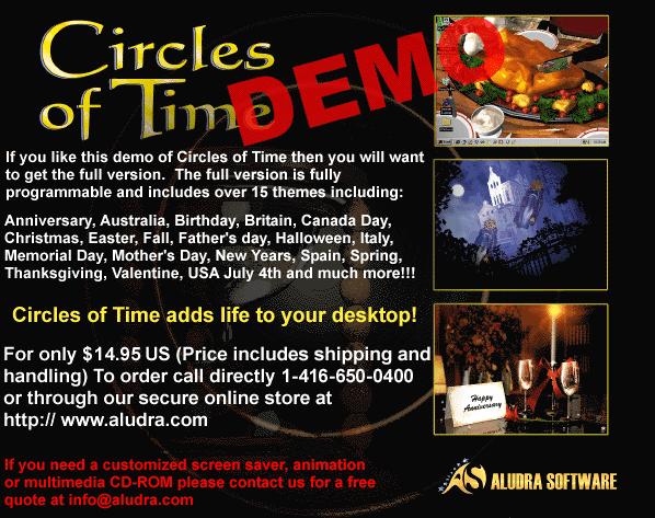 Circles of Time Halloween Screen Saver