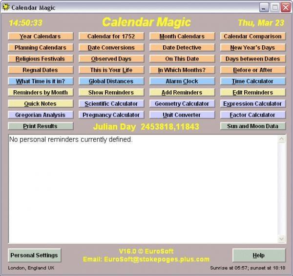 Calendar Magic