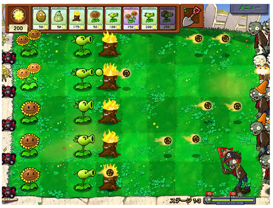 プラント vs. ゾンビ (Plants vs. Zombies) for WebApp