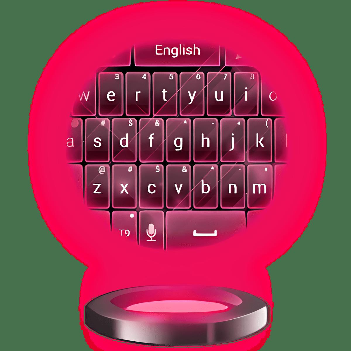 Pink Keyboard Neon