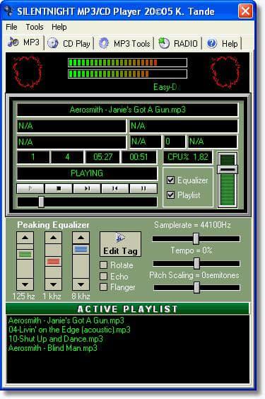 SilentNight MP3 CD Player